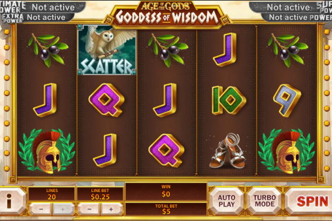 age of the gods goddess of wisdom playtech spielautomaten
