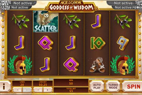 age of the gods goddess of wisdom playtech spielautomaten
