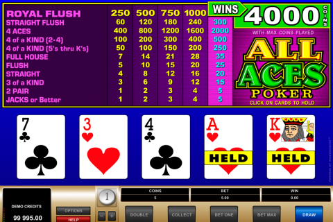 all aces poker microgaming