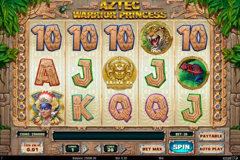 aztec warrior princess playn go spielautomaten