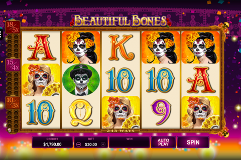 beautiful bones microgaming spielautomaten