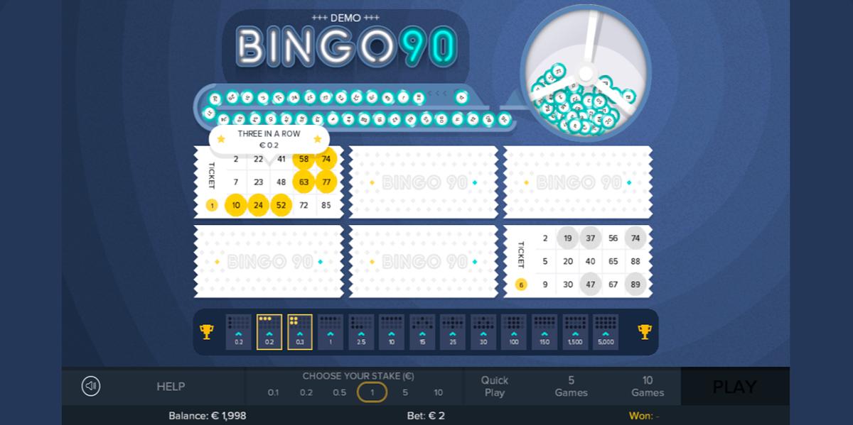 bingo 90 gluck games