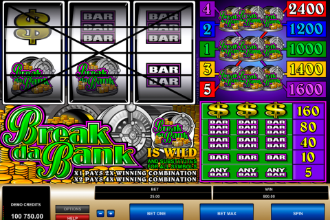 break da bank microgaming spielautomaten