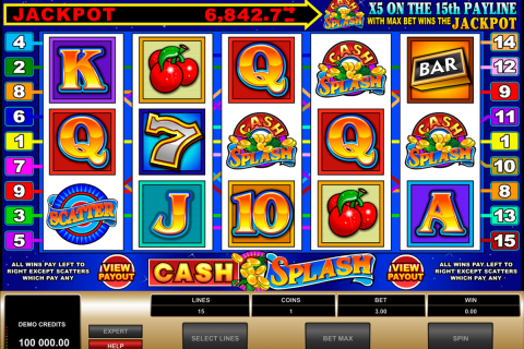 cashsplash video slot microgaming spielautomaten