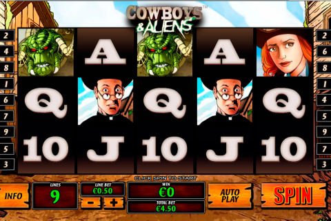 cowboys and aliens playtech spielautomaten