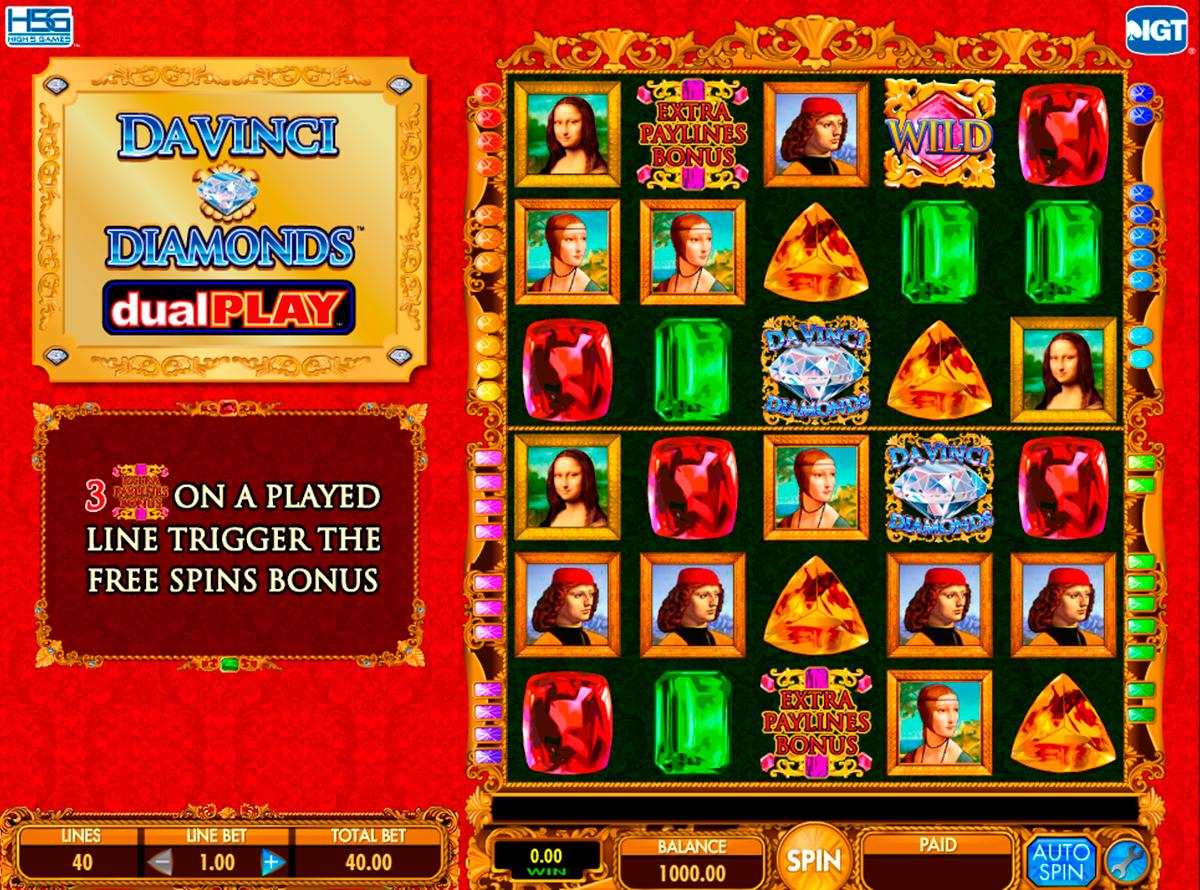 da vinci diamond dual play igt spielautomaten