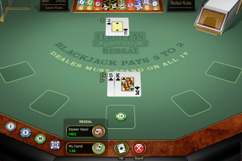 european blackjack redeal microgaming online