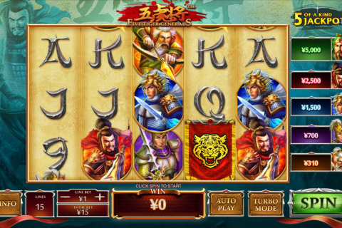 five tiger generals playtech spielautomaten