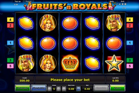 fruitsn royals novomatic spielautomaten