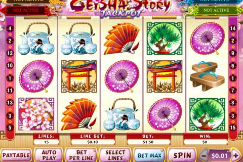 geisha story jackpot playtech spielautomaten