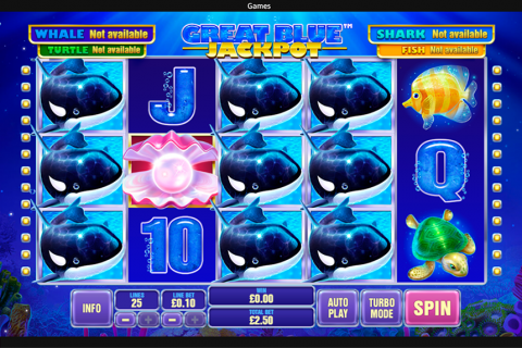 great blue jackpot playtech spielautomaten