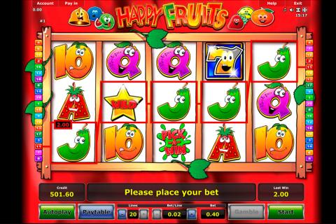 happy fruits novomatic spielautomaten