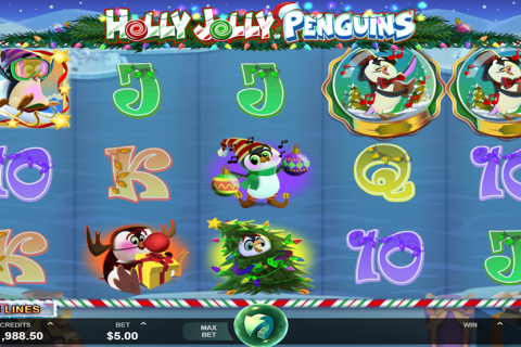 holly jolly penguins microgaming spielautomaten