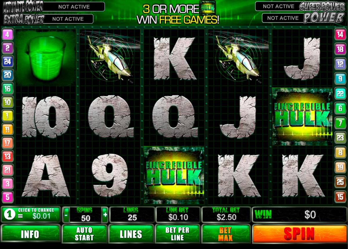 incredible hulk playtech spielautomaten