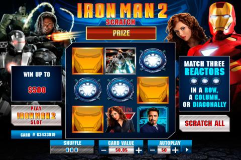 iron man  scratch playtech online