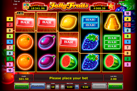 jolly fruits novomatic spielautomaten