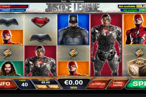 justice league playtech spielautomaten