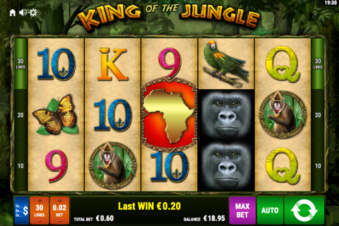 king of the jungle bally wulff spielautomaten