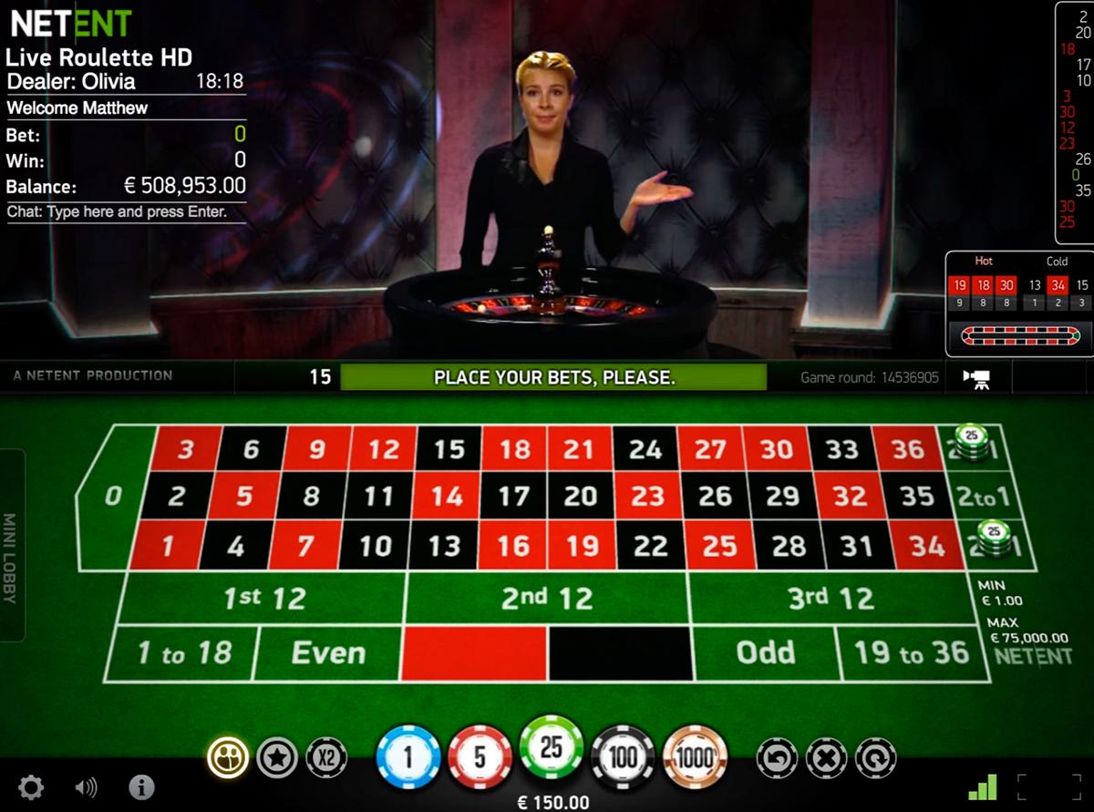 live roulette netent online