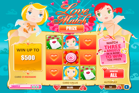 love match scratch playtech online