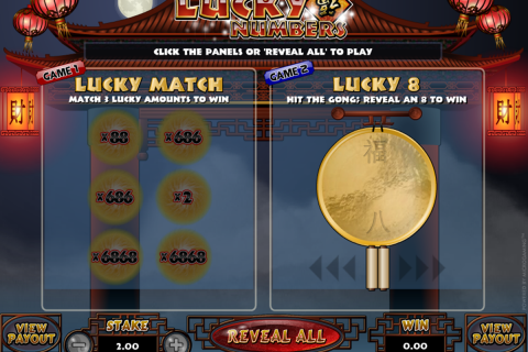 lucky numbers microgaming online