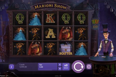 marioni show playson spielautomaten