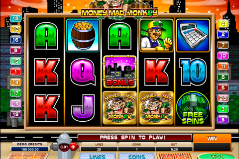 money mad monkey microgaming spielautomaten