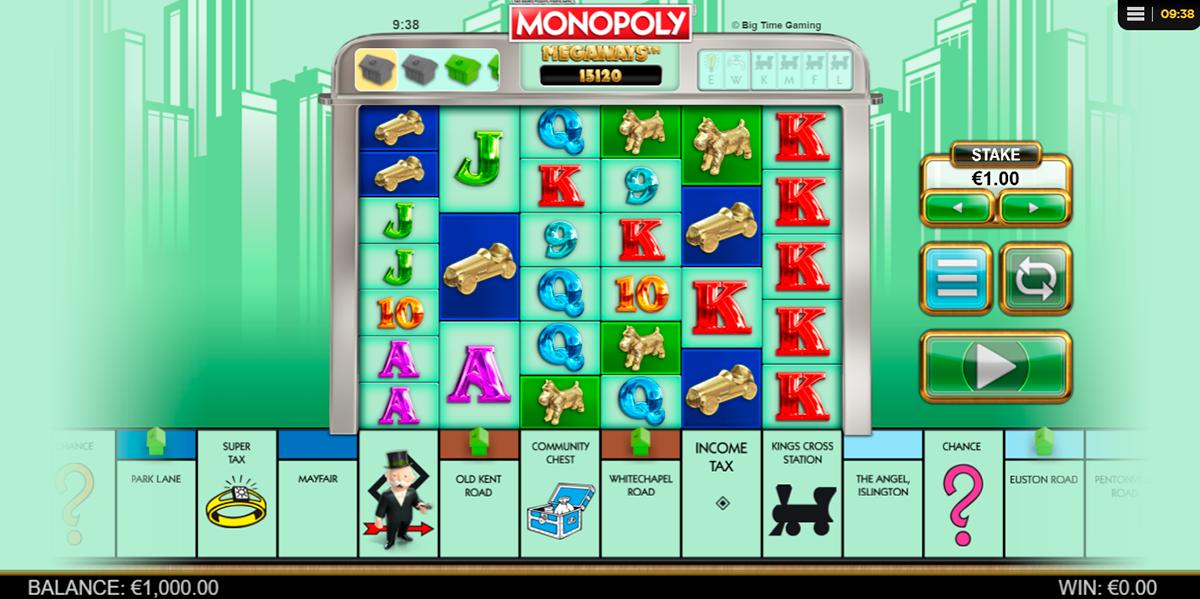 monopoly megaways big time