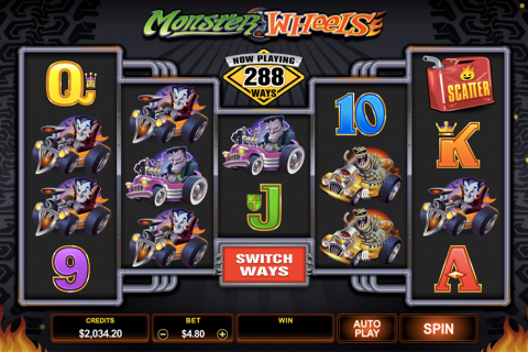 monster wheels microgaming spielautomaten