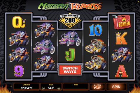 monster wheels microgaming spielautomaten