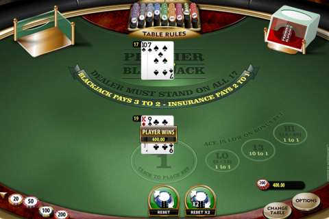 premier blackjack hi lo gold microgaming online