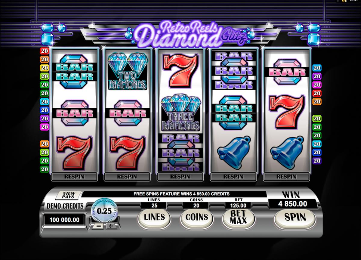 Spiele Retro Reels - Diamond Glitz - Video Slots Online