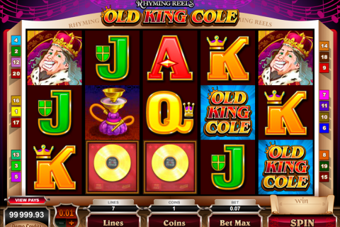 rhyming reels old king cole microgaming spielautomaten