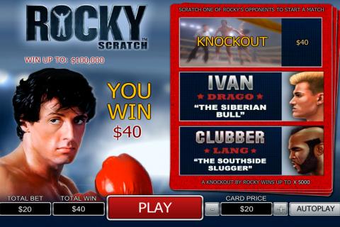 rocky scratch playtech online