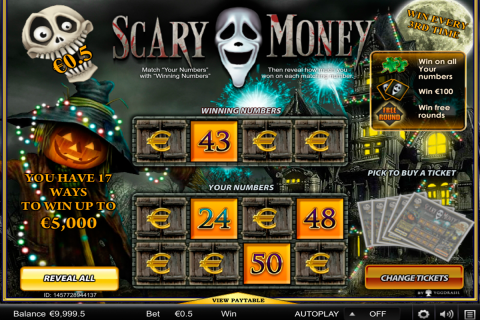 scary money yggdrasil online