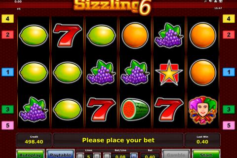 sizzling  novomatic spielautomaten