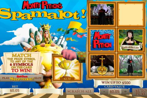 spamalot scratch playtech online