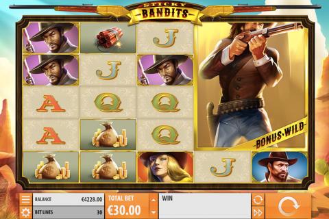 sticky bandits quickspin spielautomaten