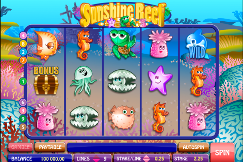 sunshine reef microgaming spielautomaten
