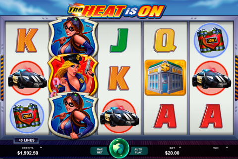 the heat is on microgaming spielautomaten
