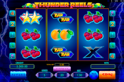 thunder reels playson spielautomaten