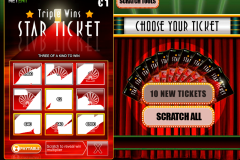 triple wins star ticket netent online