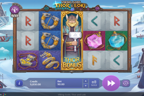 viking gods thor and loki playson spielautomaten