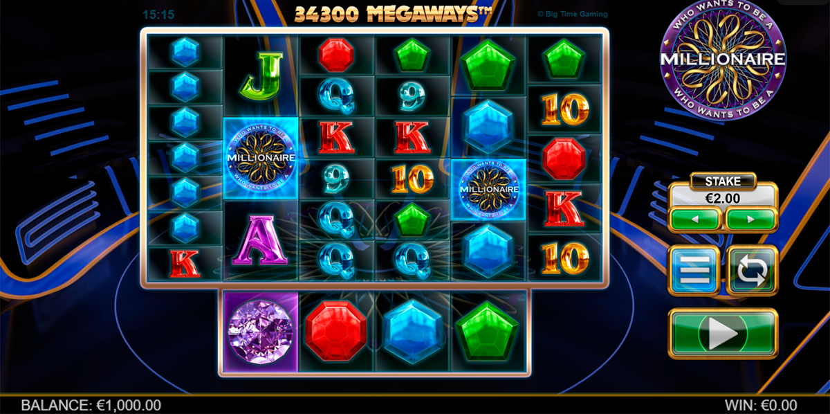 who wants to be a millionaire megaways big time