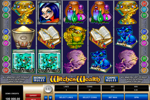 witches wealth microgaming spielautomaten