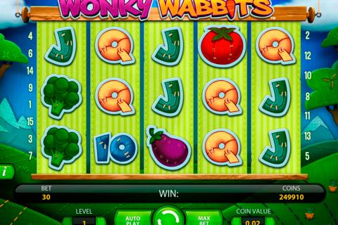 wonky wabbits netent spielautomaten